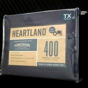 BLUE JEAN Heartland 400TC Sateen TWIN XL Sheet Set